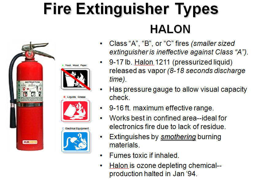 Halon fire extinguisher 2016 car release date